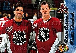 (CI) Chris Chelios, Keith Tkachuk Hockey Card 1997-98 Omega Ice Blue 245 Chris Chelios, Keith Tkachuk