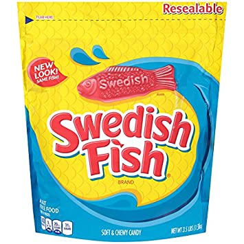 Swedish Fish Soft Chewy Candy Original 3 5 Pound