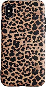 YonMeet Leopard Case for iPhone Xs MAX Classic Luxury Fashion Protective Flexible Soft Rubber Gel Back Cover Shell Casing (Leopard Pattern, iPhone Xs MAX)