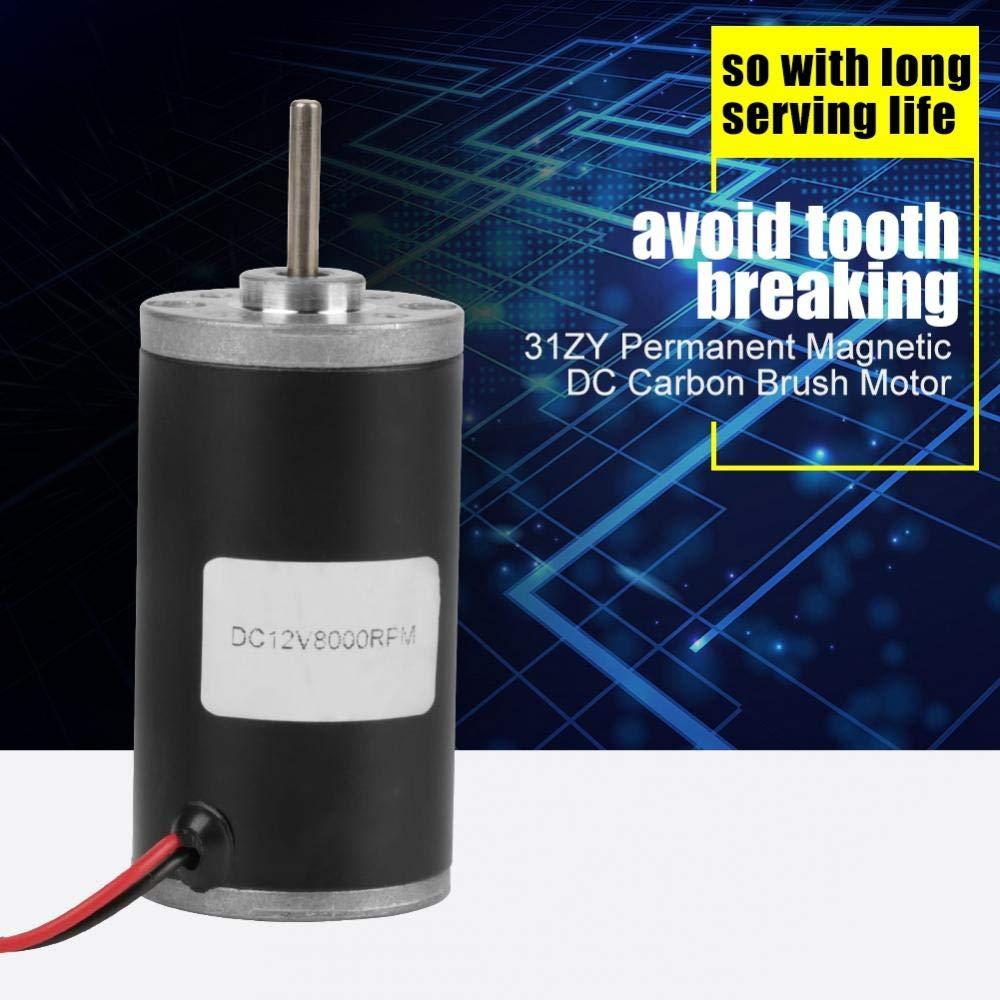 6v4000 Permanent Magnet Motors,31ZY 6V//12V//24V 3500-8000RPM High Speed CW//CCW Permanent Magnet DC Motor for DIY Generator