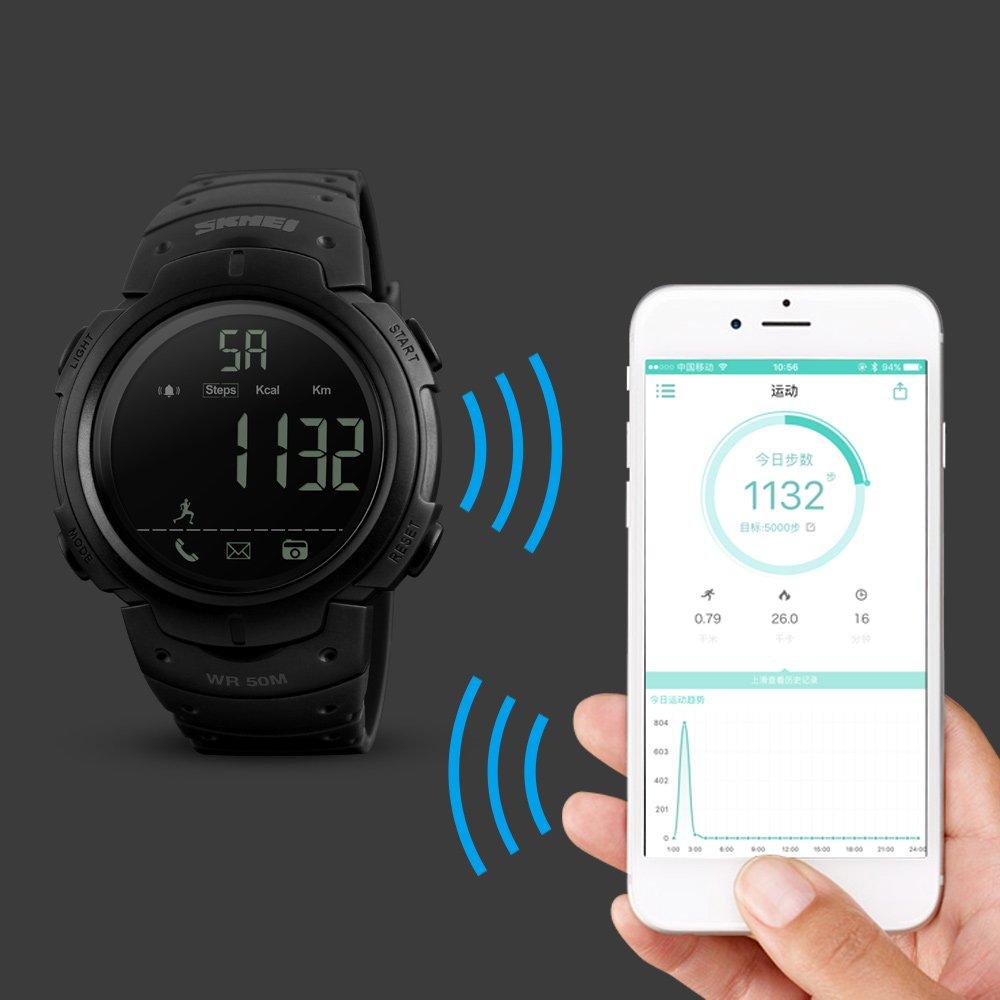 Amazon.com: SKMEI deportivo relojes inteligentes BT 4.0 ...