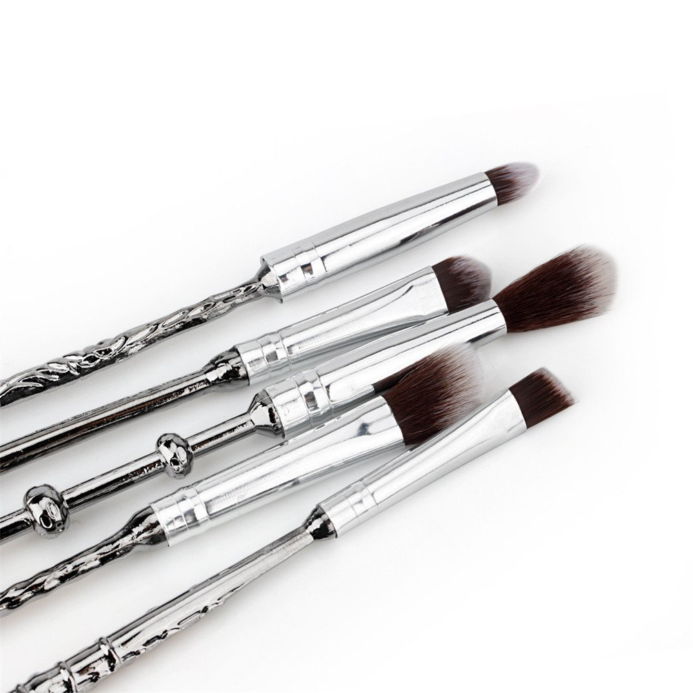 110d8f19ba75 Fashion Base® 5PCS/SET Metal Handle Wand Makeup Brushes Set Mugs Wizard  Storybook Mugs Cosmetics Brushes Blending Makeup Brush,Wizardry and  Witchcraft ...