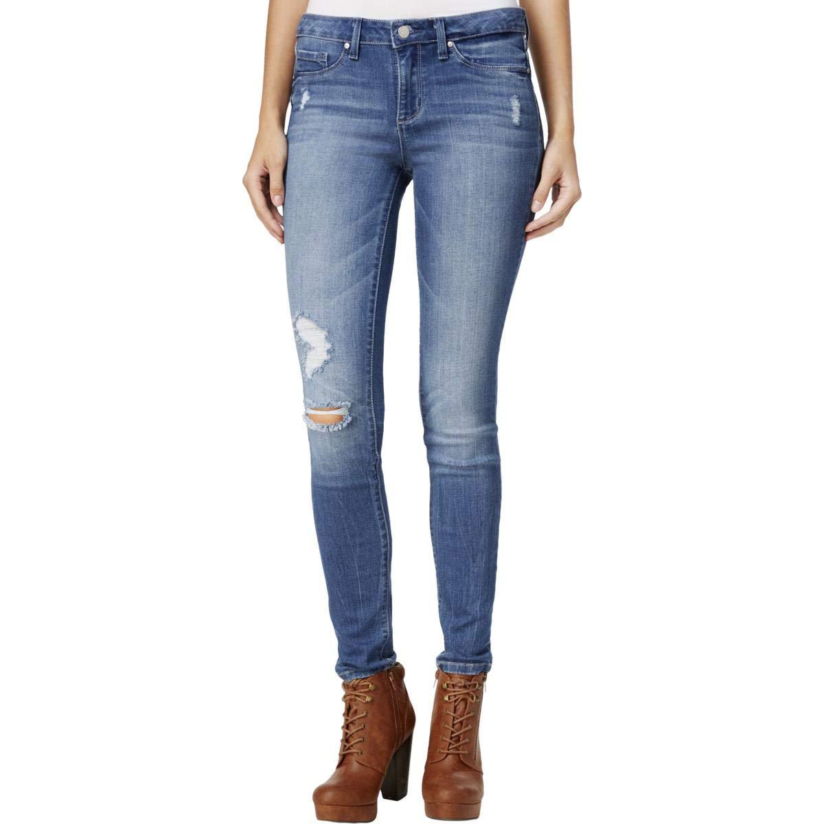 Jessica Simpson Womens Kiss Me Distressed Casual Skinny Pants Denim 26