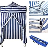 New MTN-G Portable Cabana Stripe Tent Privacy Changing Room Pool Camping Outdoor Canopy