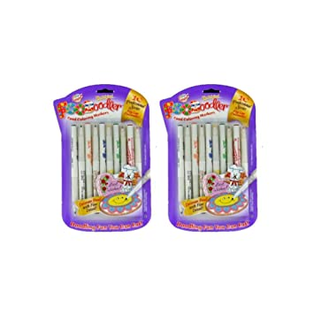Amazon.com : FooDoodler Food Coloring Markers - 10 Colors - Kosher ...