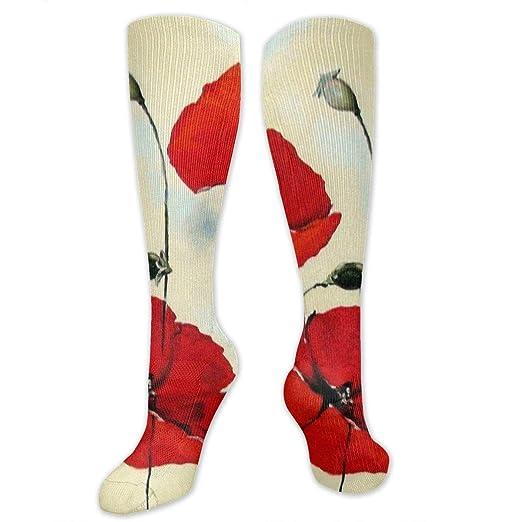 4c9d426072d50 Red Poppies Flower Oil Painting Men's/Women's Sensitive Feet Wide ...