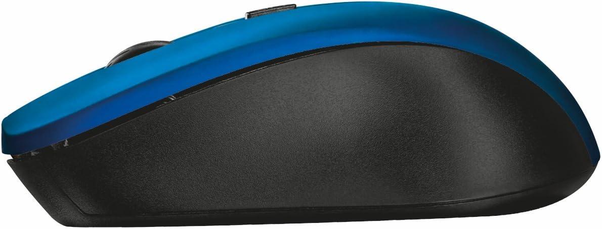ohne Klickger/äusche, DPI-Schalter bis zu 1800 DPI schwarz Trust Mydo Silent Kabellose optische Maus