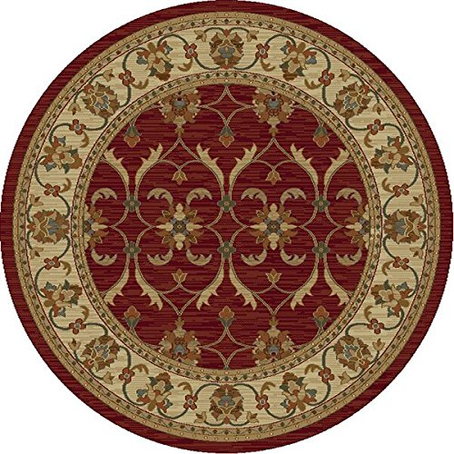 KAS Oriental Rugs Lifestyles Collection Agra Round Area Rug, 7' x 10
