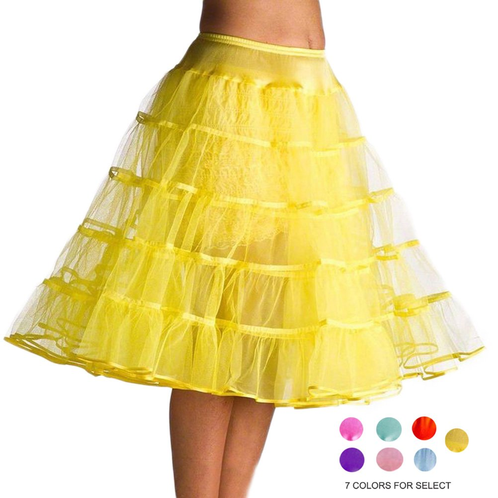 Dorchid Women's Puffy Mid-Calf Petticoat 10 Colors P004