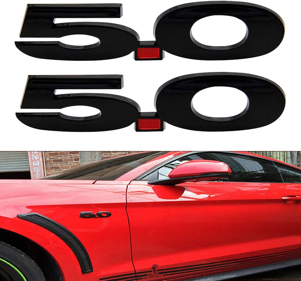 Pair Chrome Metal Mustang GT Logo Car Emblem Premium Badge 3D Auto Side Fender Sticker Decal
