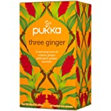 Pukka Three Ginger Herbal Tea Bags, 20 Count, 1.8 Grams