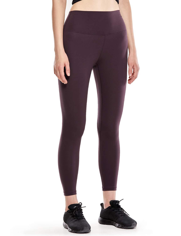 CRZ YOGA Women's Naked Feeling II High Waist Yoga Leggings Workout Pants with Pocket -25 Inches Arctic Plum XXS(00)