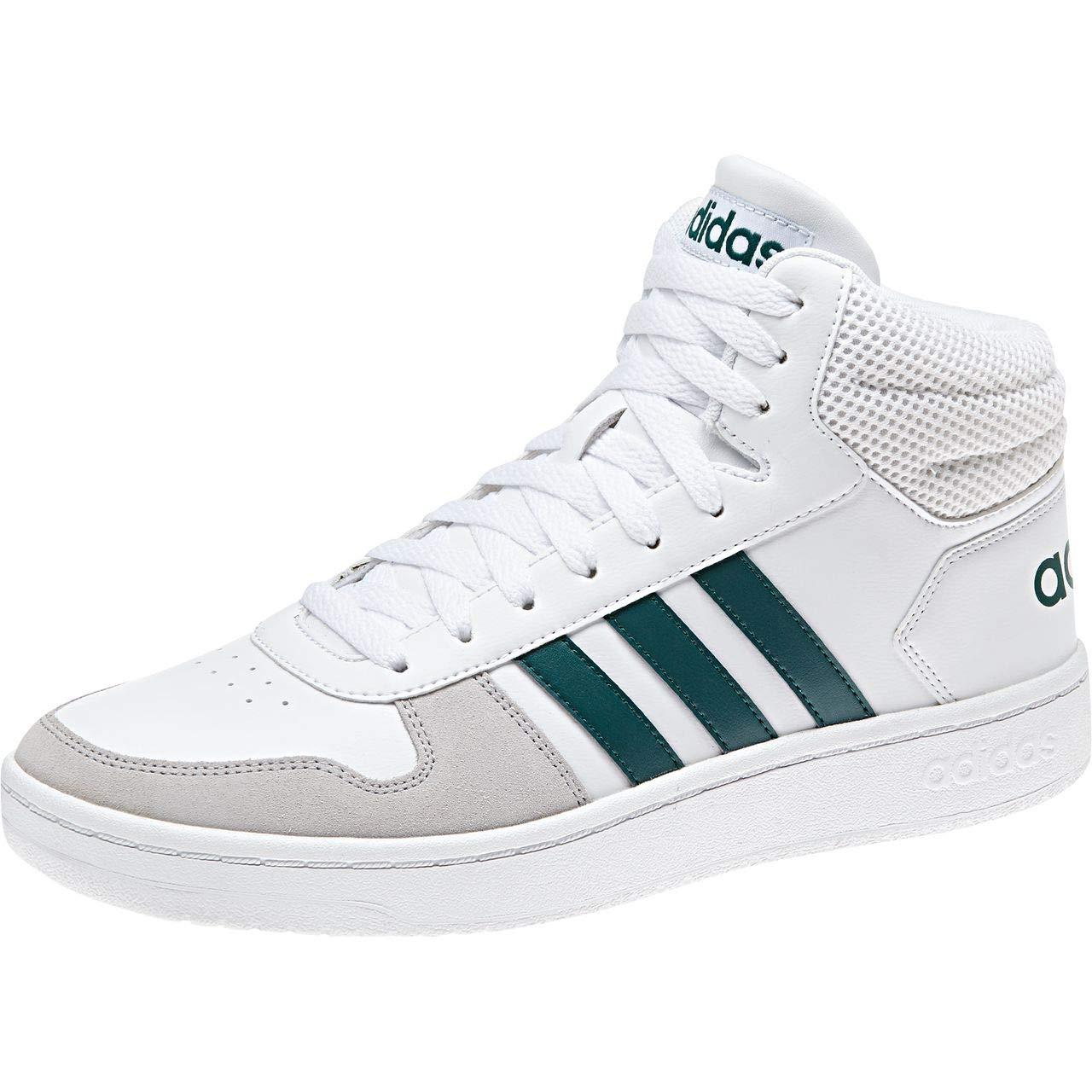 Blanc (Ftwbla Vernob Gridos 0) adidas Hoops 2.0 Mid, Chaussures de Fitness Homme 45 1 3 EU