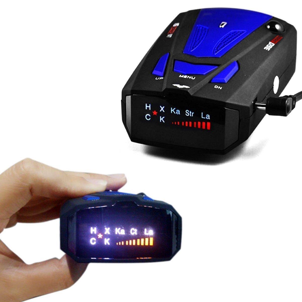 Rilevatore GPS per limite di velocità a 360 gradi, vocale, schermo V7 a infrarossi, blu Anzer