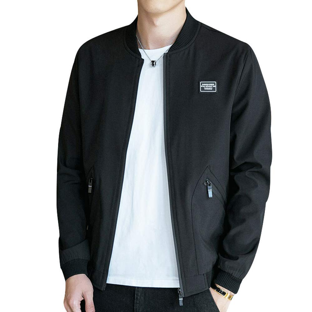 Longay Men Coat, Mens Autumn Winter Casual Jacket Big Size Baseball Jacket Coat