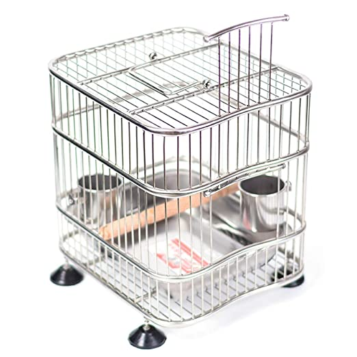 Jaula de baño de jaula de pájaros de acero inoxidable Jaula de ...