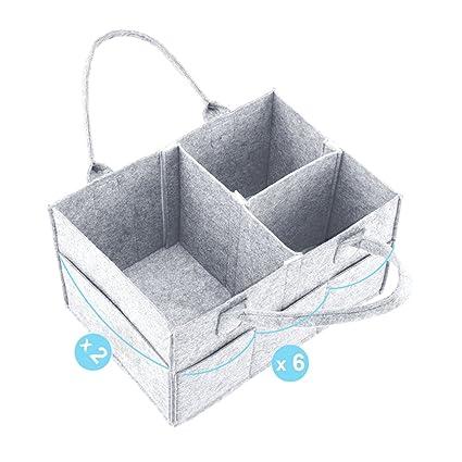 Bolsa de almacenamiento de pañales para niños Cesta de ...