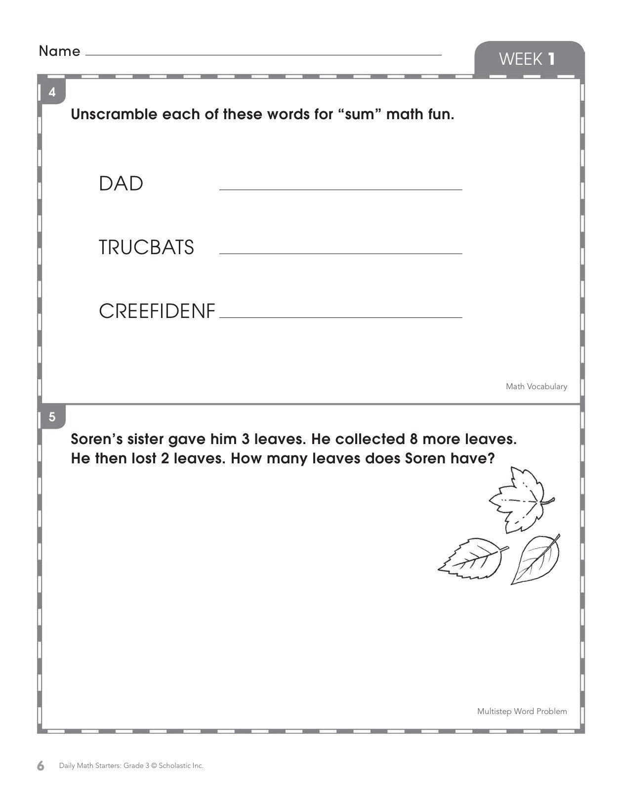 Amazon.com: Daily Math Starters: Grade 3: 180 Math Problems for ...