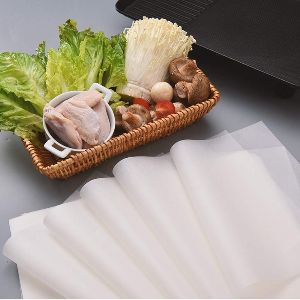 Parchment/Precut Baking Paper/Unbleached/Non Toxic/for/Baking Grilling,Steaming/-12/x/16/Inches 100Pcs/Natural