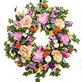 All Dressed Up Spring Wreath, Summer Wreath, Everyday Wreath, Silk Wreath (26 inch)