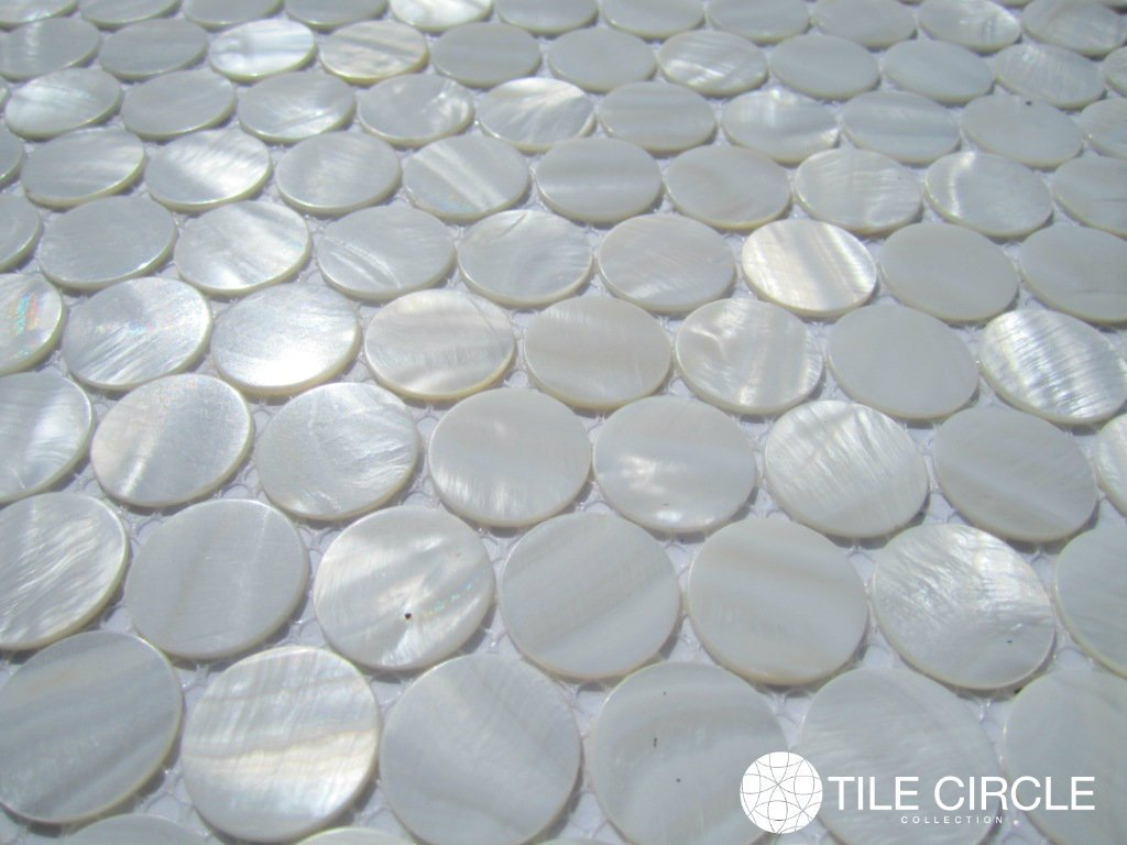 Amazon genuine mother of pearl shell tile white 1 circle amazon genuine mother of pearl shell tile white 1 circle tile home kitchen dailygadgetfo Images