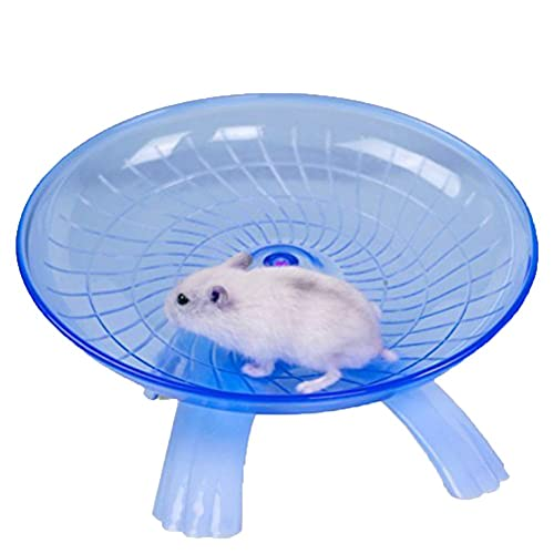 Keersi Small Animal Comfort Exercise Wheel Toy Silent Spinner for Pet Syrian Hamsters Rat Gerbil Mice Chinchilla Guinea Pig Squirrel (Blue)
