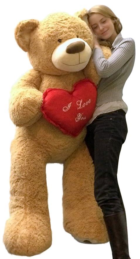 87441789612ff Amazon.com  Big Plush I Love You Giant Teddy Bear 5 Foot Soft Tan 60 ...