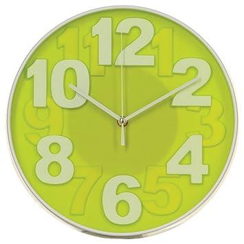 Orologio da parete - Stile moderno - Colore: VERDE ACIDO ...