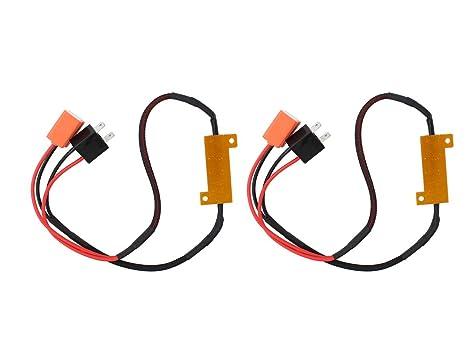 2 x H7 bombillas LED para faros delanteros de resistencia Inline libre de error canbus advertencia