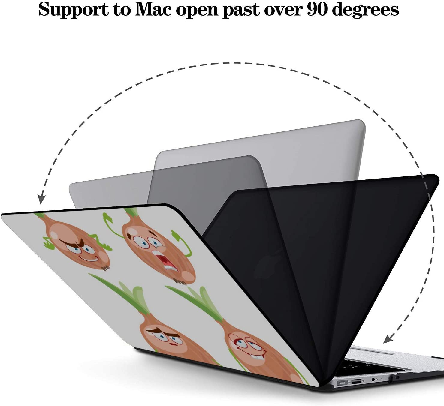 MacBook Air Case A1466 Cartoon Smiling Onion Vegetables Plastic Hard Shell Compatible Mac Air 11 Pro 13 15 MacBook Accessories 13 Inch Protection for MacBook 2016-2019 Version