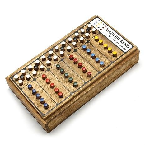 Amazon MasterMind Wooden Brain Teaser Game Toys Games Best Wooden Mastermind Game