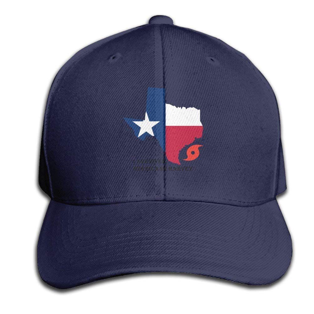 f0477733fff Amazon.com  Texas Pride I Survived Hurricane Harvey Adjustable Baseball Caps  Unstructured Dad Hat 100% Cotton Ash Navy  Clothing