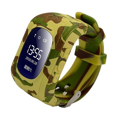 Reloj para Niños Q50, 9Tong Reloj Infantil Pulsera Inteligente Localizador Pantalla OLED con Smartphones (