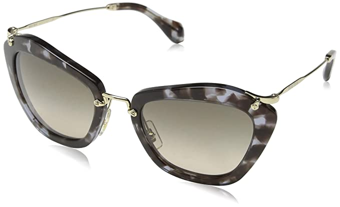 689b2e261cf Miu Miu 0Mu10Ns Uah3D0 55 Montures de lunettes Marron (Lilac  Havana Browngradientgrey)