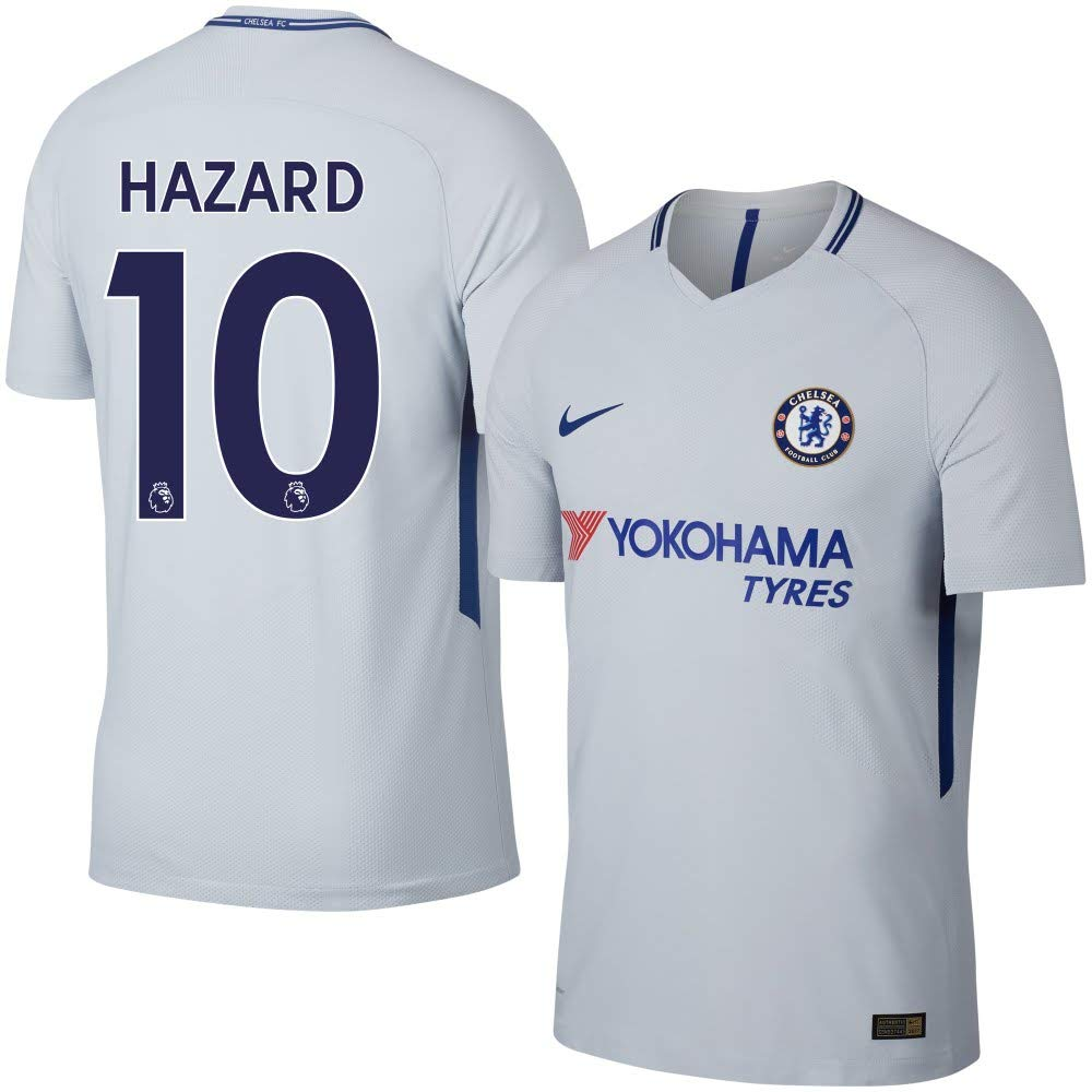 ddd961b61 Amazon.com   Nike Chelsea Away Hazard Stadium Jersey 2017 2018 (Authentic  EPL Printing)   Sports   Outdoors
