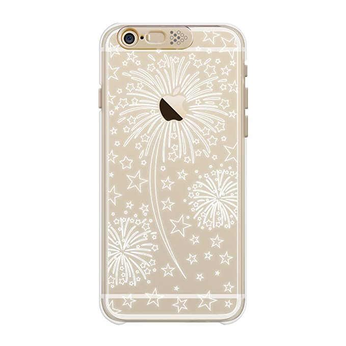 5f1100ae37 Image Unavailable. Image not available for. Color: SG Clear Shield  Illumination Case Gold Fire Flower for iPhone 6s Plus/6 Plus