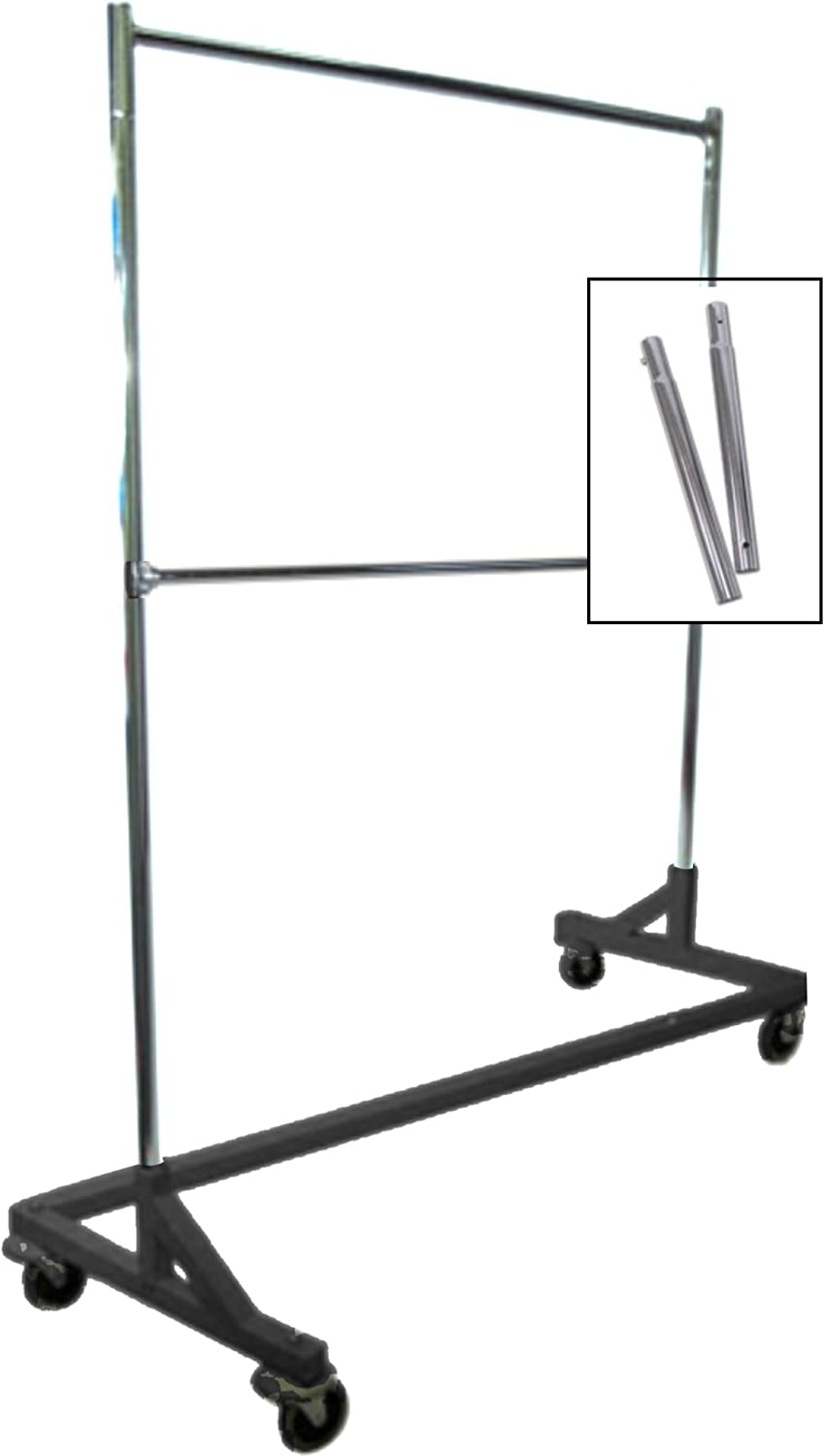 Incroyable Amazon.com: Extended Height Double Rail Rolling Z Rack Garment Rack With  Nesting Black Base: Home U0026 Kitchen