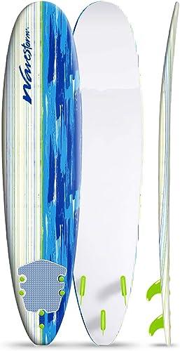 Foam Surfboard for Beginner, Starter, Learner, Kids, Adult, 8' [Wavestorm] Picture