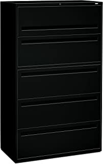 product image for HON 795LP 700 Series 42-Inch 5-Drawer Lateral File withroll-Out and Posting Shelves, Black