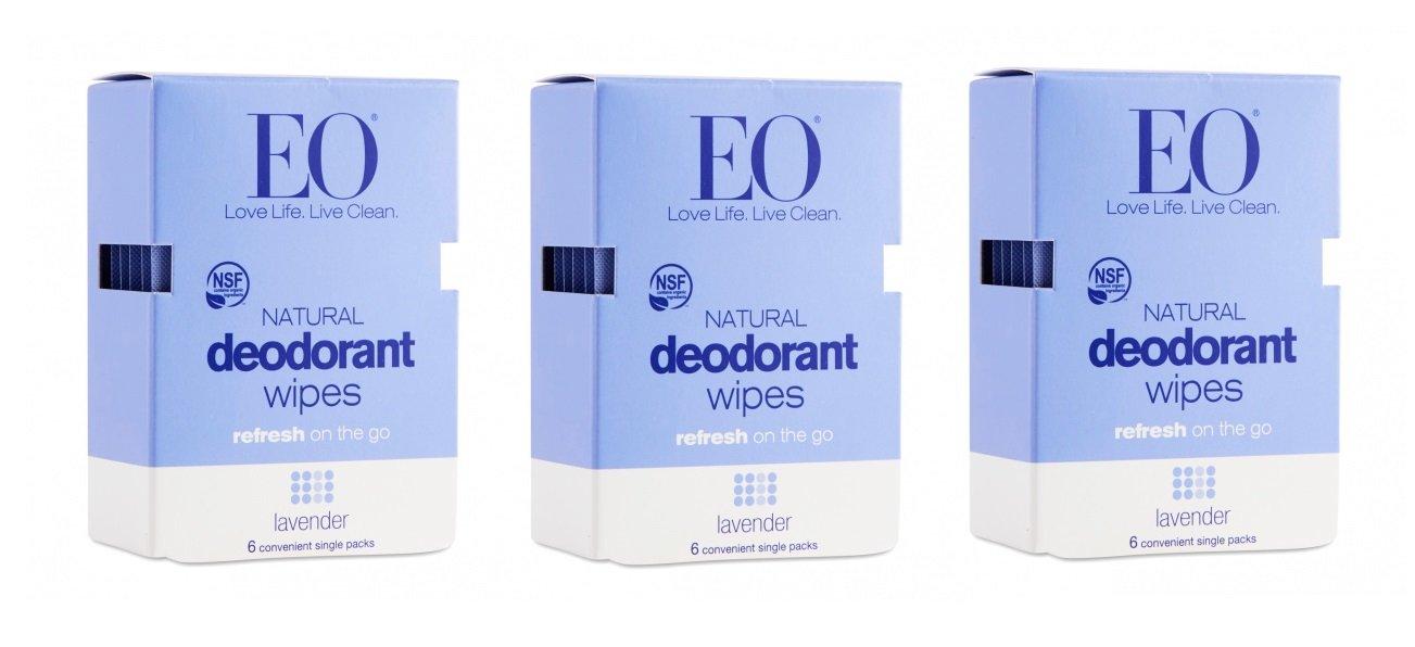 EO Natural Deodorant Wipes Lavender 24/box (3 boxes)