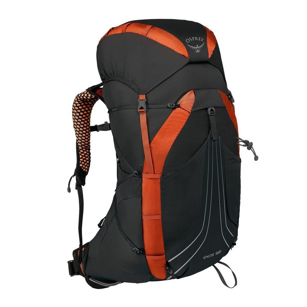 Osprey Packs Exos 58 Backpacking Pack, Blaze Black, Large