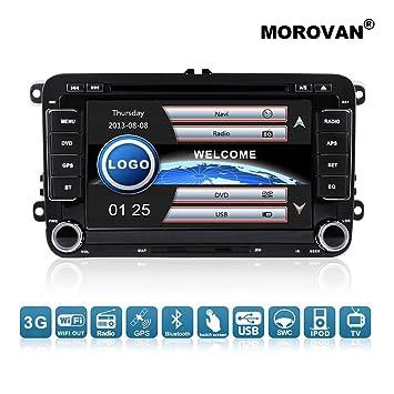 Reproductor de DVD morovan para coches Volkswagen, con navegación GPS, radio FM y AM