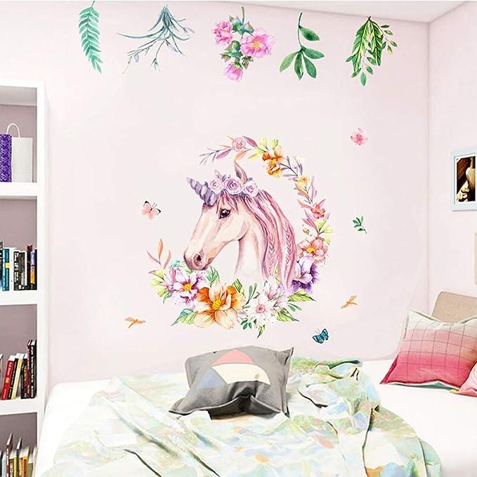 Amazon.com: Vinilo adhesivo para pared de unicornio, no ...