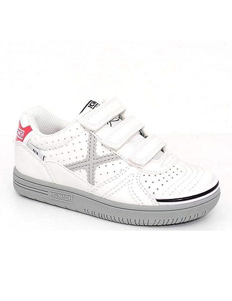 Zapatillas de Niño Munich G3 Kid Blanco Gris  Amazon.es  Zapatos y ... 323d72fac1556