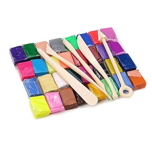 Juego de arcilla de polímero para horno, 32 colores, juguete ...