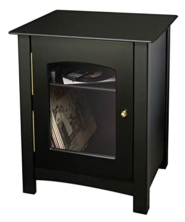 Amazon Leigh Audio Cabinet With Two Shelves Decorative Glass