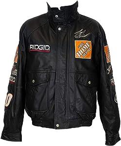 Tony Stewart Autographed Signed Jeff Hamilton Rigid Home Depot Leather Jacket JSA