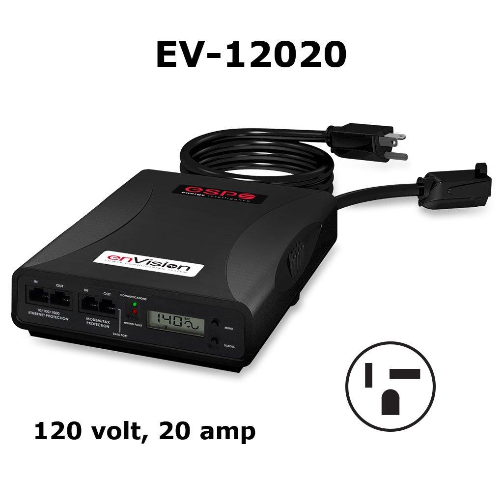 ESP enVision Surge Protector/Noise Filter/Power Monitor - EV-12020 - 120 Volt, 20 Amp
