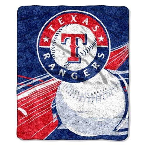 Officially Licensed MLB Texas Rangers Big Stick Sherpa Throw Blanket, 50