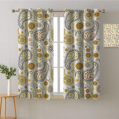 (Curtain for Living Room Grommets Home Darkening Curtains Night Darkening Curtains Image Darkening Curtains Curtains/Panels/Drapes(1 Pair, 52